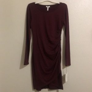 Leith Ruched Knit Dress Sz M